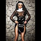 """Эротический костюм монашки """"Скромница Софи"""" L, платье, воротник, головной убор, фото 3"""