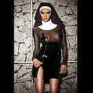 """Эротический костюм монашки """"Скромница Софи"""" L, платье, воротник, головной убор, фото 5"""