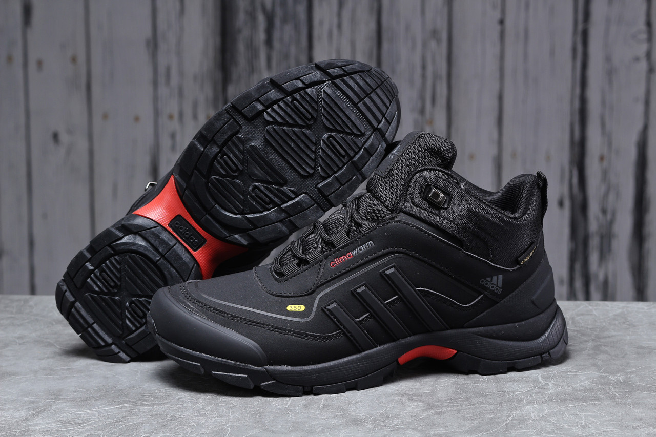 Зимние мужские кроссовки 31711 ► Adidas Climawarm 350, черные . [Размеры в наличии: ]