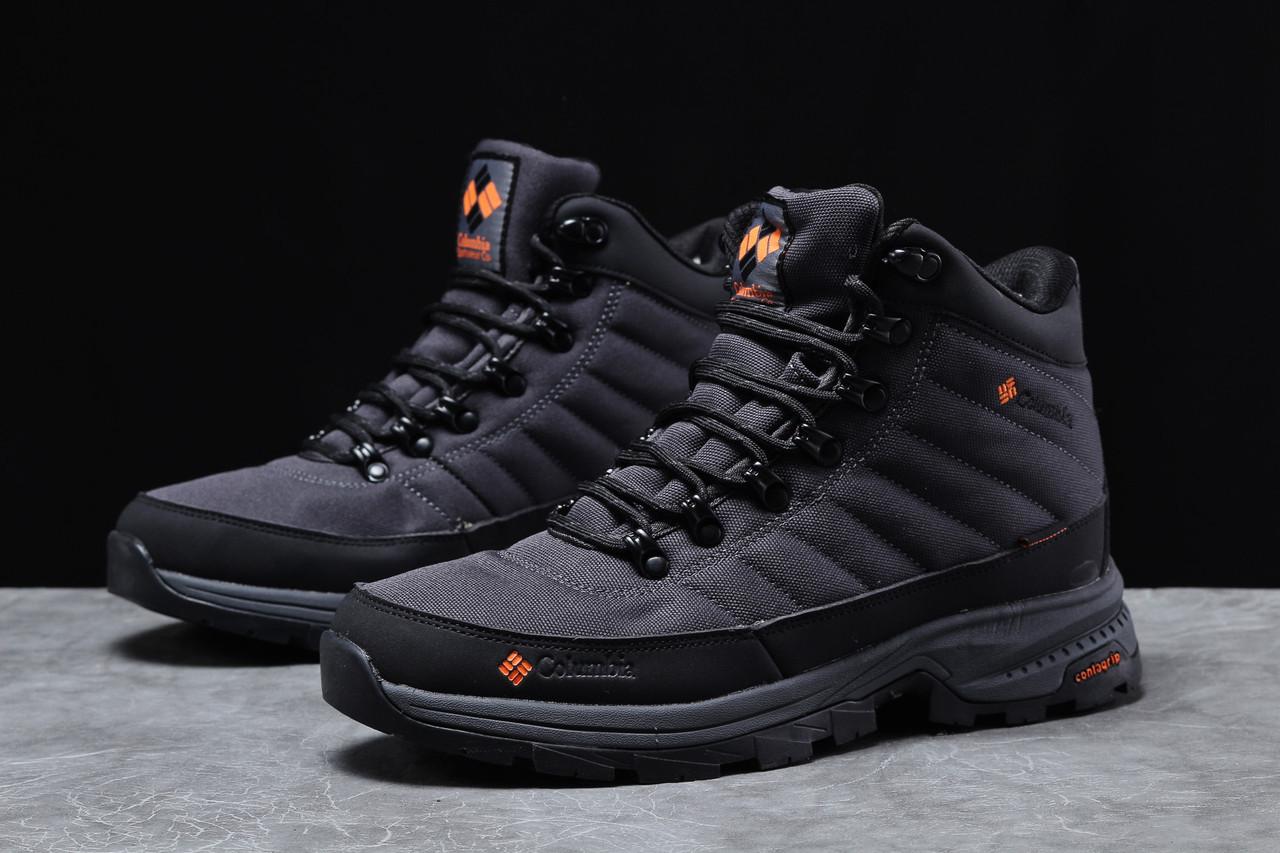 Зимние мужские кроссовки 31771 ► Columbia Contagrip, темно-серые . [Размеры в наличии: ]