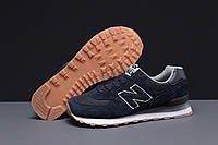 Кроссовки мужские 18033 ► New Balance  574, темно-синие . [Размеры в наличии: 44,45], фото 1