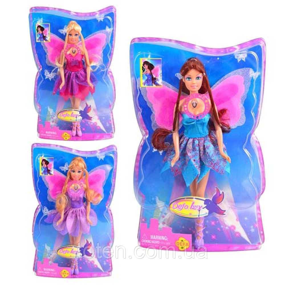 Кукла Defa Lucy 8196 Волшебная фея со светящимися крыльями 29 см