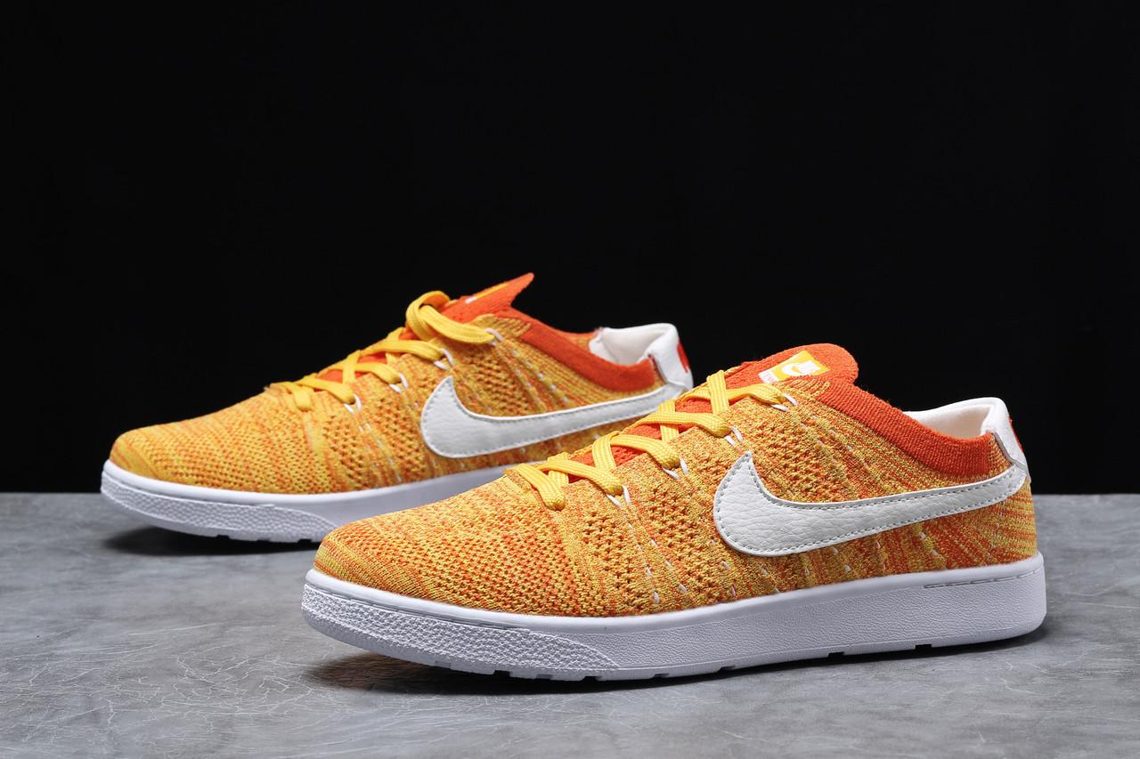 Кроссовки мужские 18082 ► Nike Tennis Classic Ultra Flyknit, оранжевые . [Размеры в наличии: 41,42,43,44,45]