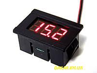 Цифровой врезной автомобильный вольтметр 12В mini красный, фото 1