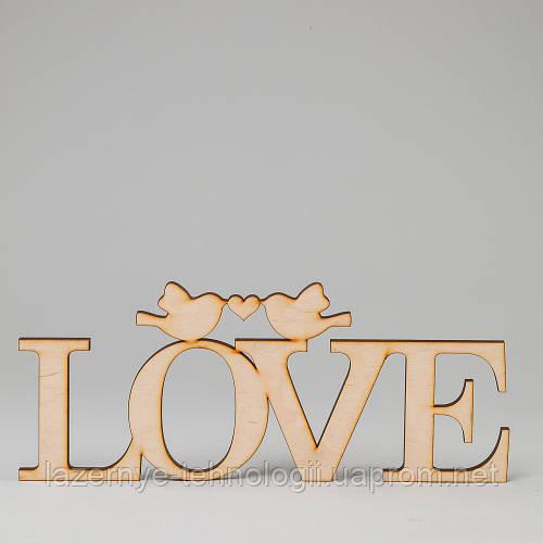 "Слова из дерева ""LOVE_птички"""