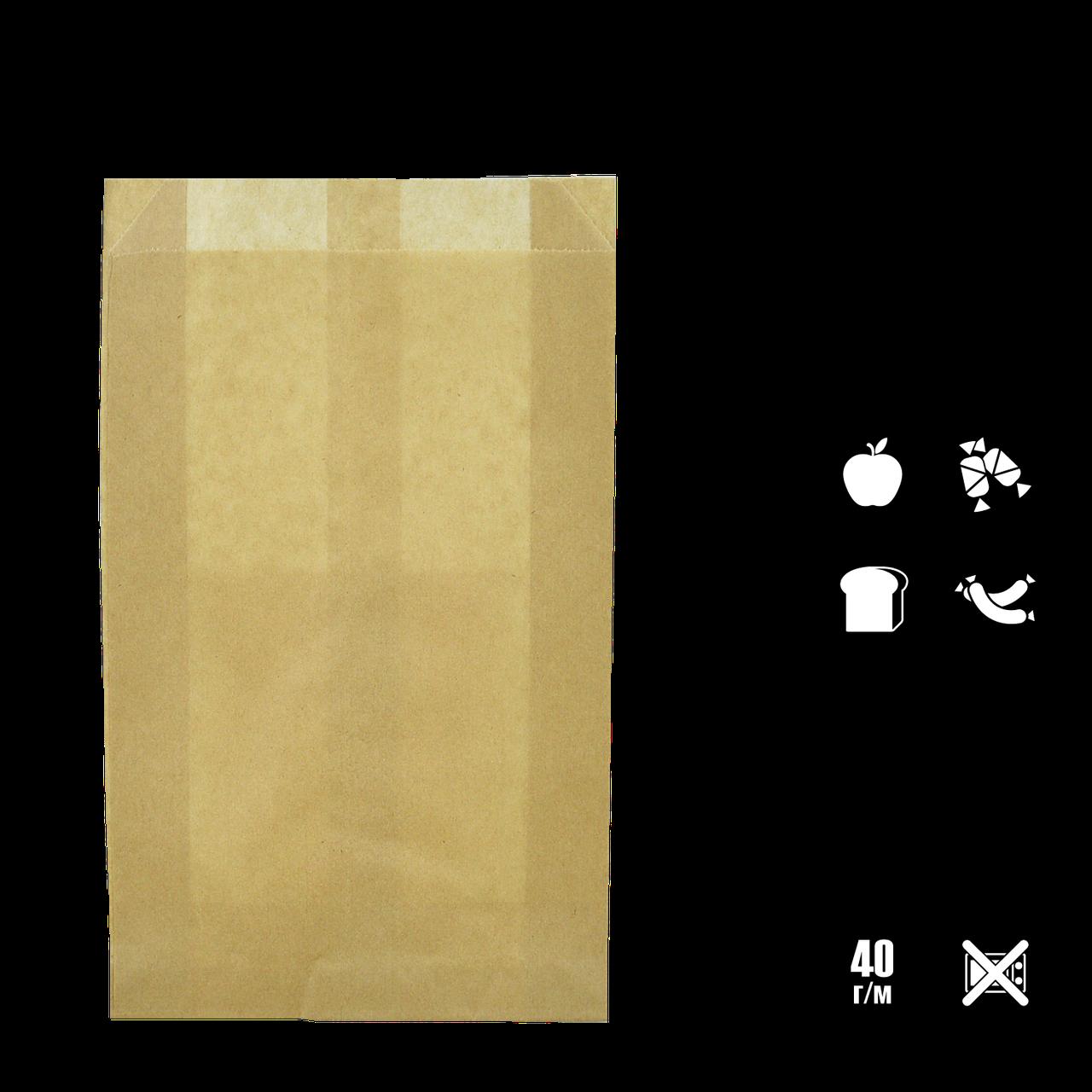 Бумажный Пакет Крафт 370х220х60мм (ВхШхГ) 40г/м² 100шт (260)
