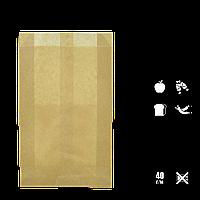 Бумажный Пакет Крафт 370х220х60мм (ВхШхГ) 40г/м² 100шт (260) , фото 1