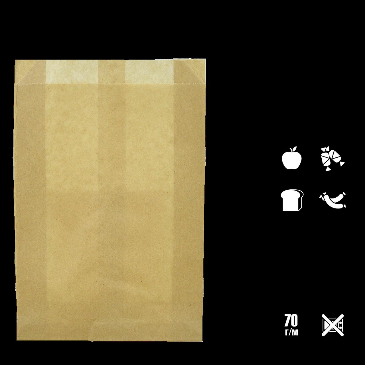 Бумажный Пакет Крафт 390х270х70мм (ВхШхГ) 70г/м² 100шт (550)