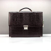 Мужской кожаный портфель Canpellini 3023-19 коричневый классический для документов бумаг, фото 1