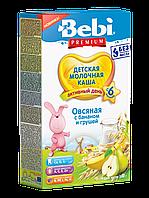 Каша молочная овсяная с бананом и грушей Bebi Premium, 200 г