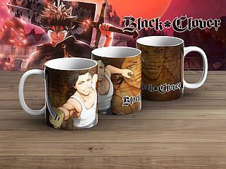 """Чашка Черный клевер """"With Sword""""/ Black Clover"""