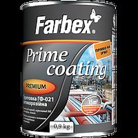 Грунтовка ГФ-021 антикоррозийная красно-коричневая Farbex Prime Coating 0.9 кг