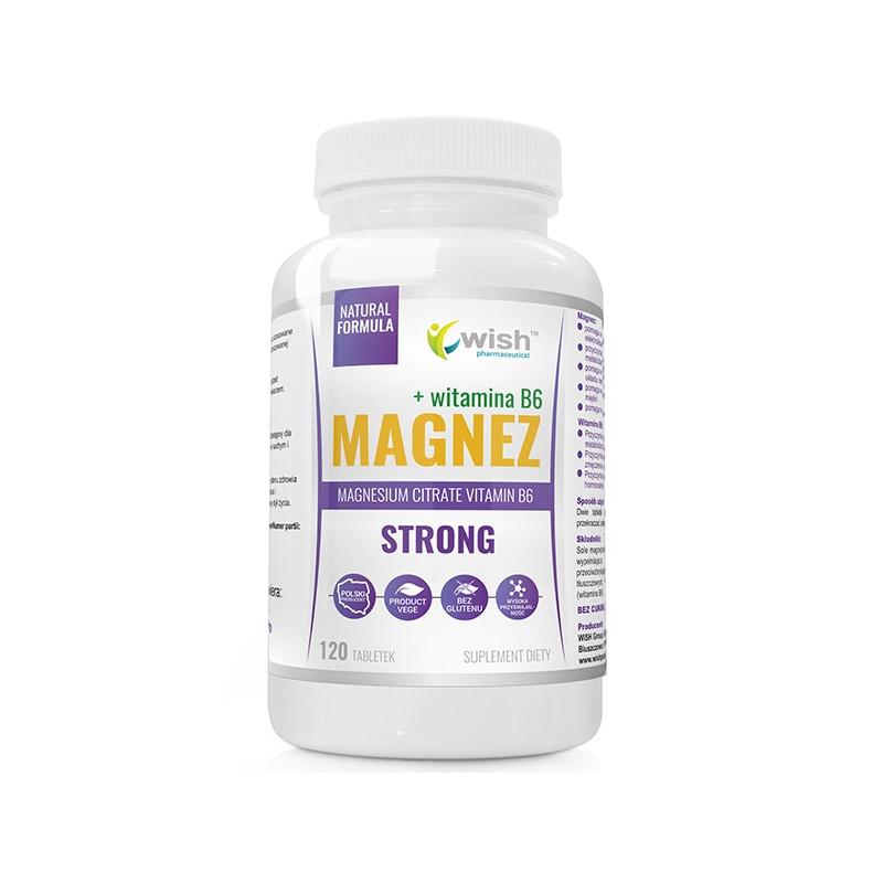 Магний Strong + Витамин B6 Forte 120 tabs, Wish