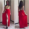 Вечернее платье с разрезом и золотыми пайетками (много расцветок), фото 7