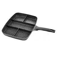 Сковорода 5в1 UNIQUE UN-4021 38*31см + ПОДАРОК:Нескользящий коврик для телефона. Размер 11*9 см