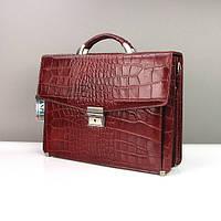 Портфель мужской бордовый кожаный Canpellini 2026-14 для документов бумаг, фото 1