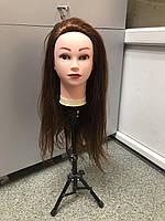 Голова учебная для причесок, плетения, моделирования искусственные термо волосы, манекен парикмахера