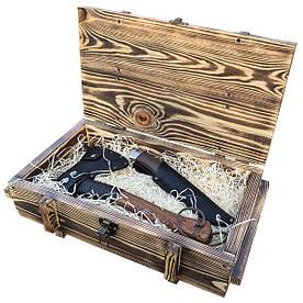 Набір подарунковий Gorillas Market Воїн Gorillas BBQ в дерев'яній коробці (hub_WAqy43441)