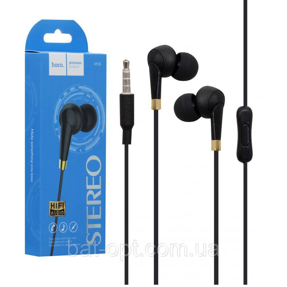 Наушники с микрофоном (гарнитура) Hoco M58 Amazing черные