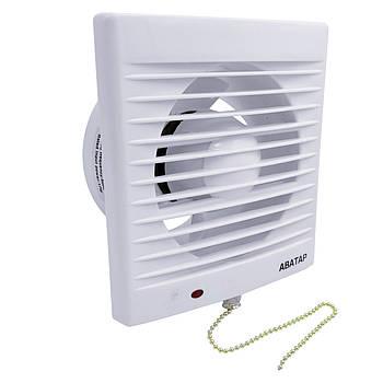 Вентилятор на витяжку АВаТар + дергалка d150