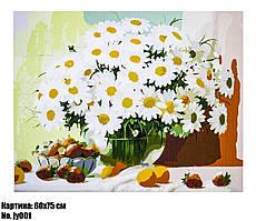 """Картина по номерам """"Ромашки"""", размер 60 х 75 см, код JY001"""