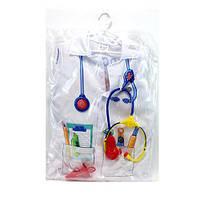 Детский игровой комплект доктора с халатом и дополнительными аксессуарами