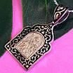 Срібна підвіска з емаллю Святий Гергій - Георгій Побідоносець кулон оберіг срібний, фото 5
