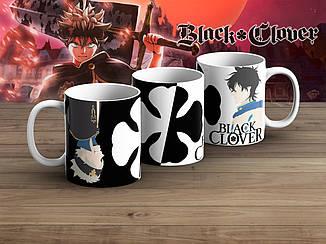 """Чашка Черный клевер """"Symbol of Luck""""/ Black Clover"""