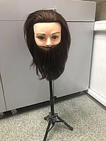 Голова навчальна для зачісок, Барбер моделювання штучні термо волосся, манекен перукаря, фото 1