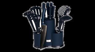 Набор кухонных принадлежностей и ножей с подставкой Berlinger Haus Metallic Line Aquamarine Edition BH-6249 —