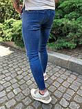 Джинсы синие мужские рваные, фото 2