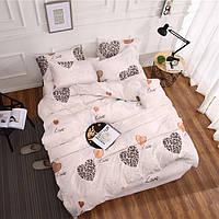Комплект постельного белья «Сердечки» Бязь Голд Serdechki-4136, Семейный комплект