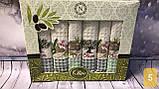 Набор Кухонных Полотенец Плотные Вафельные В Подарочной Коробке 40*60 6 шт С Вышивкой Турция, фото 5
