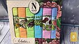 Набор Кухонных Полотенец Плотные Вафельные В Подарочной Коробке 40*60 6 шт С Вышивкой Турция, фото 6