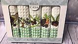 Набор Кухонных Полотенец Плотные Вафельные В Подарочной Коробке 50*70 5 шт С Вышивкой Турция, фото 2