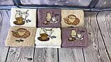 Полотенца Для Кухни Плотные Махровые Хлопковые 30*50  В Упаковке (6 шт.) Кофе Лаванда Олива Турция, фото 2