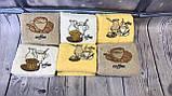 Полотенца Для Кухни Плотные Махровые Хлопковые 30*50  В Упаковке (6 шт.) Кофе Лаванда Олива Турция, фото 3