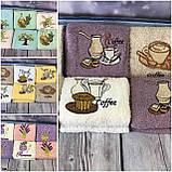 Полотенца Для Кухни Плотные Махровые Хлопковые 30*50  В Упаковке (6 шт.) Кофе Лаванда Олива Турция, фото 5