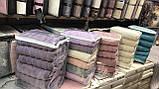 Набор Плотных Махровых Полотенец Хлопковых Цвет Бирюзовый Для Лица В Упаковке 6шт Размер 50*90 см Турция SANS, фото 5