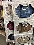 Набор Полотенец Для Лица и Бани в Коробке 2 шт На Подарок Хлопковые Махровые С Вышивкой Турция Gulcan, фото 2