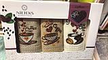Набір Кухонних Рушників Вафельні В Подарунковій Коробці 40*60 3 шт З Вишивкою Nilteks Туреччина, фото 3