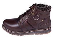 Чоловічі шкіряні зимові черевики Kristan City Traffic Brown, фото 1