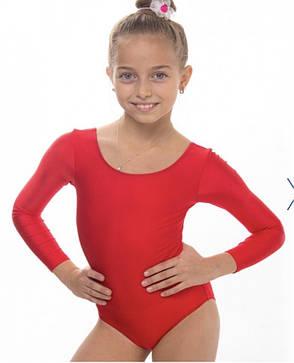Боди купальник трико  гимнастический для танцев красный , балета, фото 2