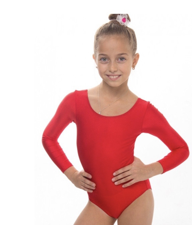 Боди купальник трико  гимнастический для танцев красный , балета