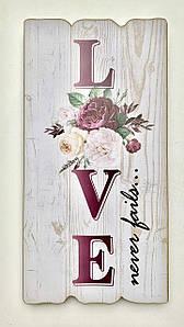 "Декор ""Love never fails"""