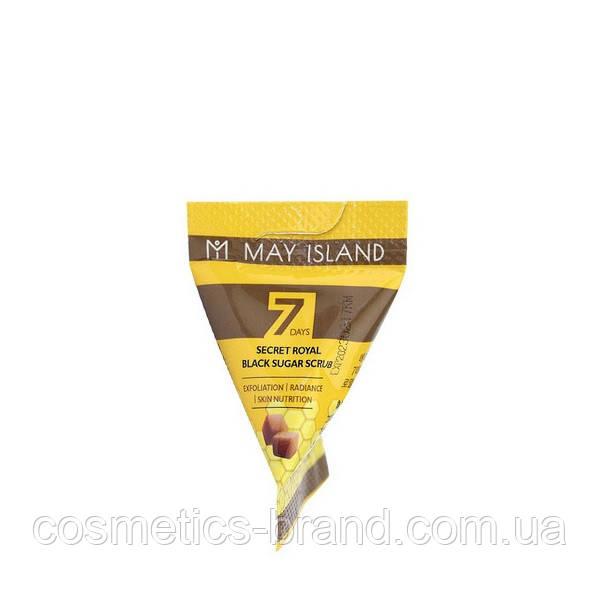 Скраб MAY ISLAND 7 Days Secret Royal Black Sugar Scrub, 5 g