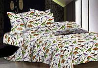 """Полуторный постельный комплект Бязь Gold """"Динозавры"""""""