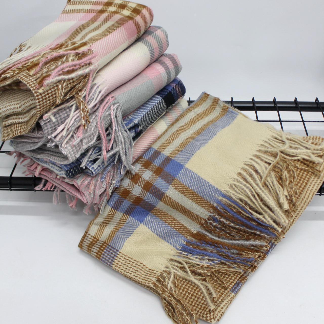 Кашемировый теплый шарф палантин  Cashmere 140004