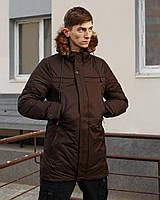 Зимняя мужская парка LIA коричневая