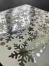Наклейка  сріблясті Дзеркальні сніжинки (декор окон и стен зеркальные серебрянные снежинки), фото 2